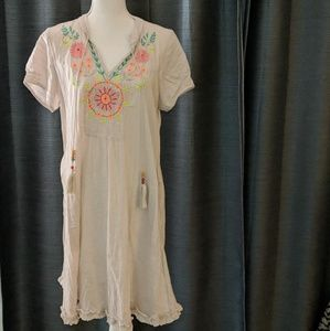 Other - Ruby Yaya Gray Floral Embroidered Cover-up Small